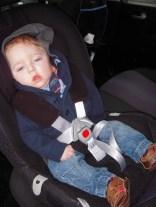 Sam in car seat