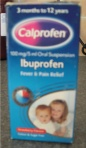 Calpol: pain relief medicine (used a lot during teething)